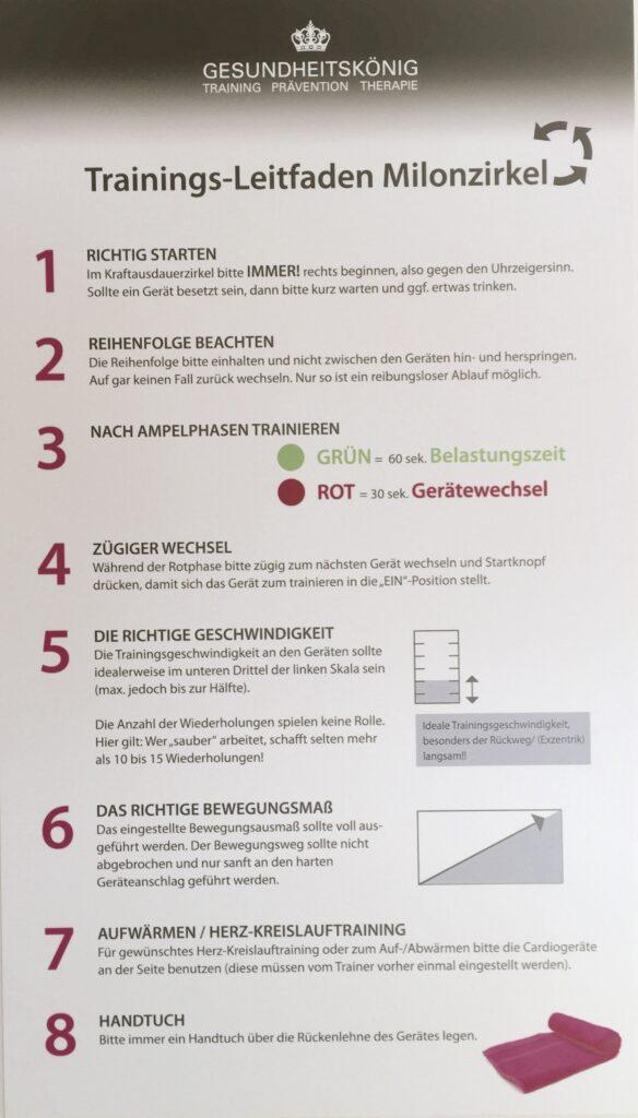 Gesundheitskönig - Milon Zirkel Trainingsprinzip