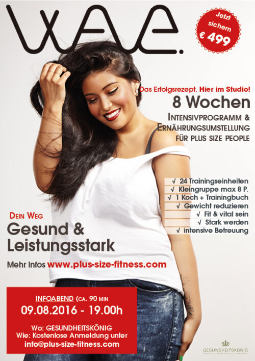 Wave Poster Plus Size Fitness Kurs Infoabend