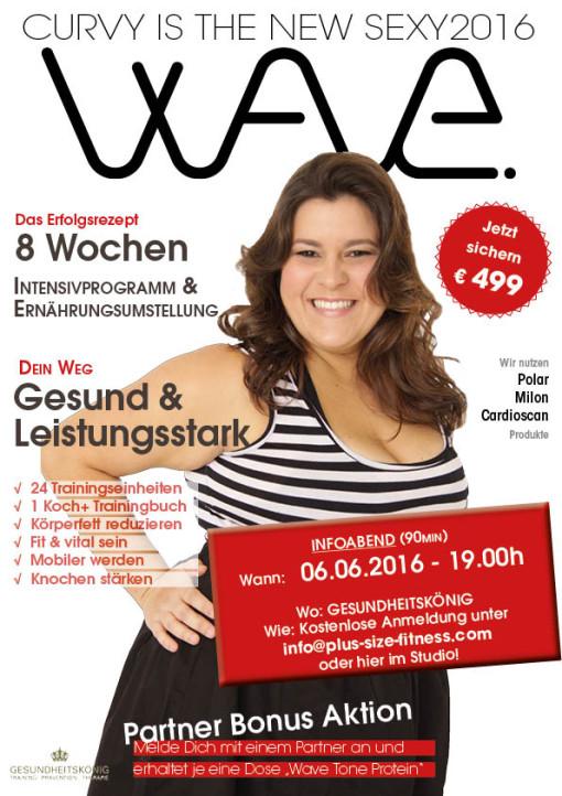 WAVE Programm - das Fitness und Ernährungskonzept für Übergewichtige